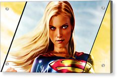 Supergirl Acrylic Print by Marvin Blaine