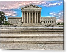 Acrylic Print featuring the photograph Supreme Court by Peter Lakomy