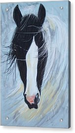 Acrylic Print featuring the pastel Sweep by Peter Suhocke