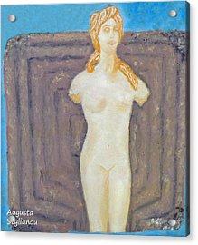 Symbol Of Fertility And Goddess Aphrodite Acrylic Print by Augusta Stylianou