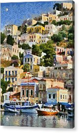 Symi Island Acrylic Print by George Atsametakis
