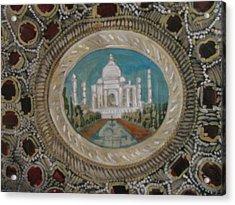 Acrylic Print featuring the painting Taj Mahal by Vikram Singh