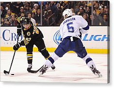 Tampa Bay Lightning V Boston Bruins Acrylic Print by Maddie Meyer
