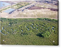 Tar Sands Deposits Being Mined Acrylic Print by Ashley Cooper