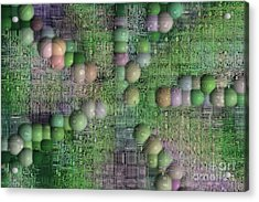 Technology Abstract Background Acrylic Print by Michal Boubin