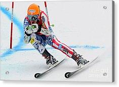 Ted Ligety Skiing  Acrylic Print