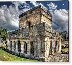 Temple Of The Frescos - Tulum Acrylic Print by Ines Bolasini