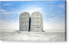 Ten Commandments Standing In The Desert Acrylic Print