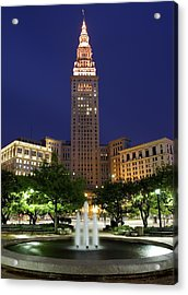 Terminal Tower Part Two Acrylic Print by Frozen in Time Fine Art Photography