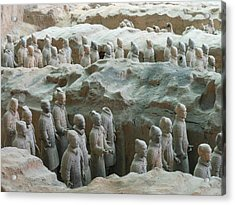 Acrylic Print featuring the photograph Terracotta Army by Kay Gilley