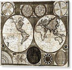 Terraqueous Globe - Map Of The World Acrylic Print by EricaMaxine  Price
