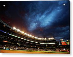 Texas Rangers V New York Yankees Acrylic Print by Al Bello