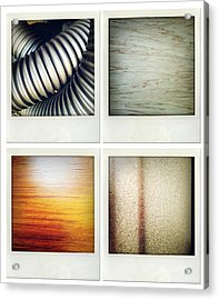 Textures Acrylic Print by Les Cunliffe