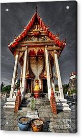 Thai Temple Acrylic Print by Adrian Evans