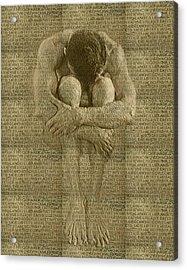 The Artist Acrylic Print by Kurt Van Wagner