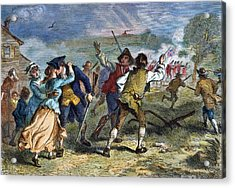 The Battle Of Concord, 1775 Acrylic Print by Granger