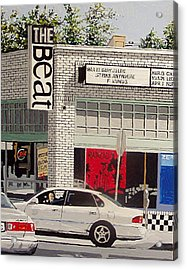 The Beat In Midtown Acrylic Print by Paul Guyer