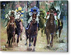 The Bets Are On Acrylic Print by Anthony Falbo