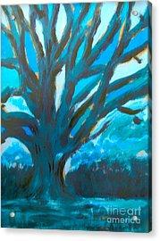 The Blue Tree Acrylic Print