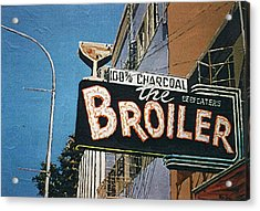 The Broiler On J Street Acrylic Print by Paul Guyer