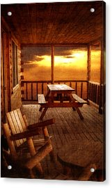 The Cabin Acrylic Print by Joann Vitali