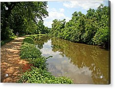 The Chesapeake And Ohio Canal Acrylic Print by Cora Wandel