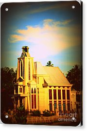Acrylic Print featuring the photograph The Church In My Village by Jason Sentuf