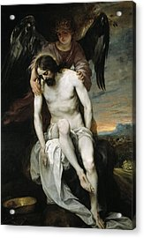 The Dead Christ Supported By An Angel Acrylic Print