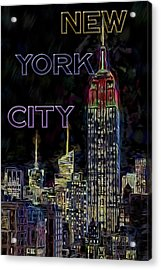 The Empire State Building Acrylic Print by Susan Candelario