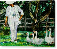 The Five Ducks Acrylic Print
