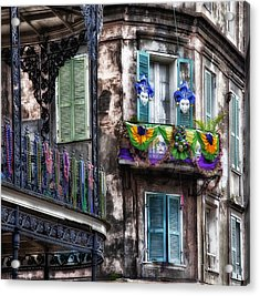 The French Quarter During Mardi Gras Acrylic Print by Mountain Dreams
