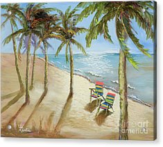 Acrylic Print featuring the painting The Get-away by Vic  Mastis