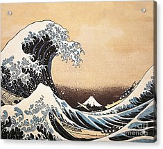 The Great Wave Of Kanagawa Acrylic Print by Hokusai