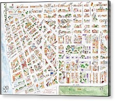 The Greenwich Village Map Acrylic Print