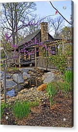 The Historic Gosnell Log Cabin  Mauldin Sc Acrylic Print