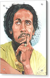 The King Of Reggae Acrylic Print by Max CALLENDER