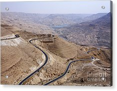 The Kings Highway At Wadi Mujib Jordan Acrylic Print by Robert Preston