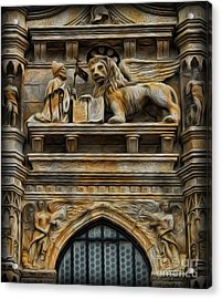 The Lion Of Venice Acrylic Print by Lee Dos Santos
