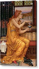 The Love Potion Acrylic Print by Evelyn De Morgan