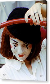 The Mime Acrylic Print by Michael Nowotny