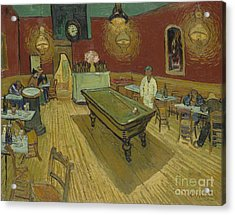 The Night Cafe Acrylic Print by Vincent Van Gogh