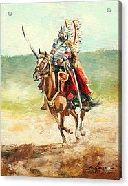 The Polish Winged Hussar Acrylic Print