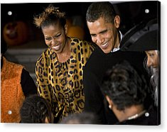 The President And First Lady Acrylic Print by JP Tripp