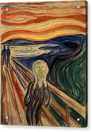The Scream Acrylic Print by Celestial Images