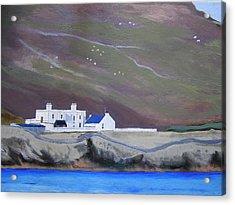 The Shore Station At Burrafirth Acrylic Print
