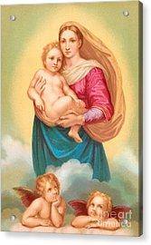 The Sistine Madonna Acrylic Print by Raphael