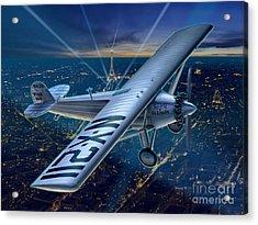 The Spirit Over Paris Acrylic Print by Stu Shepherd