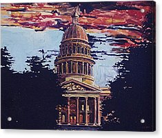 The State Capitol Acrylic Print by Paul Guyer