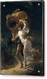 Acrylic Print featuring the painting The Storm by Pierre Auguste Cot