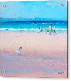 Bondi Surfers Acrylic Print
